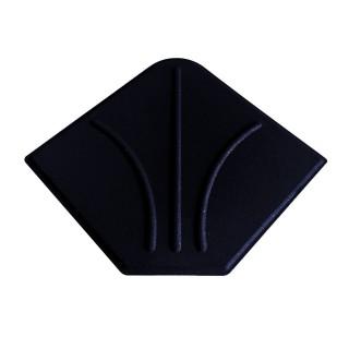 Pied de parasol en ciment - 20 kg - Noir