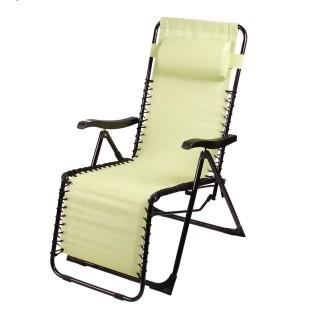 Chaise longue avec repose-tête Playa - Anis