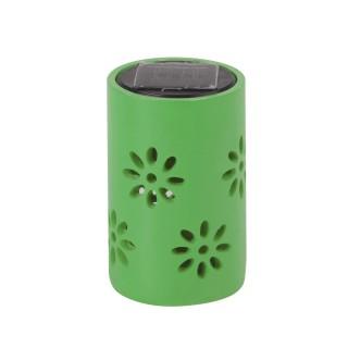 Lanterne solaire - Motifs fleuris - Vert