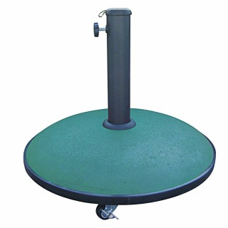 Pied de parasol en ciment avec roue - 25 kg - Vert