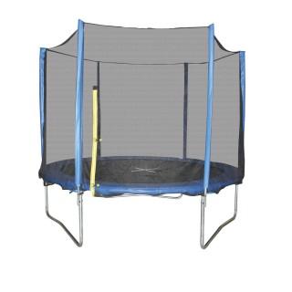 Trampoline avec filet Playo - Diam. 2,4 m - Noir