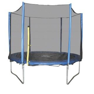 Trampoline avec filet Playo - Diam. 3 m - Noir