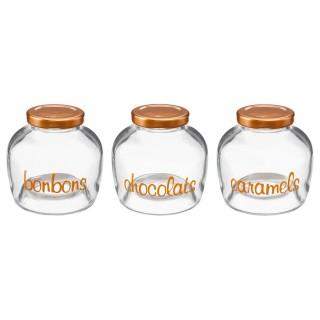 3 bocaux à bonbons Sweeties - H. 9 cm -
