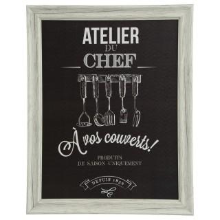 Cadre Chef - 40 x 50 cm - Couverts