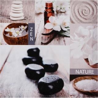 Toile imprimée Zen romance - 28 x 28 cm - Nature