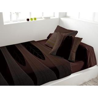 Parure de lit 5 pièces Spirit Chocolat - 240 x 300 - Percale