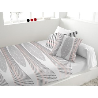 Parure de lit 5 pièces Spirit Blanc - 240 x 300 - Percale