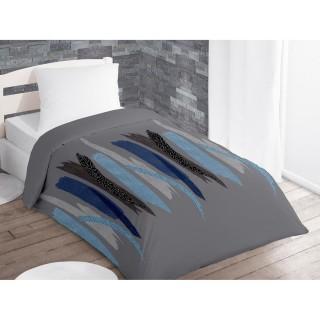 Couette imprimée Tulle Bleu - 140 x 200
