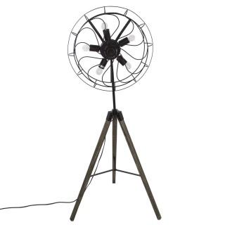Lampadaire métal Hélice - Hauteur 148 cm - Noir