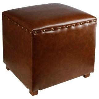 Pouf Vintage - 38 cm - Marron