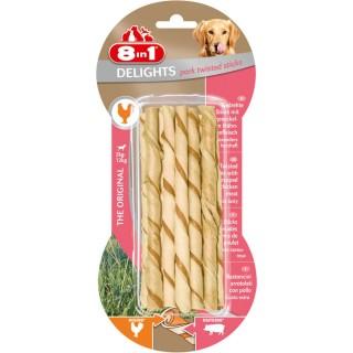 10 bâtonnets Twisted Sticks - Viande de Porc - Taille XS