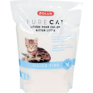 Litière pour chaton - Cristaux de Silice très fins - 5 L