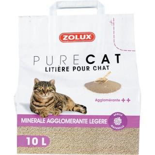 Litière pour chat- Agglomérante légère - 10 L