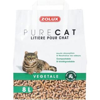 Litière pour chat- Végétale naturelle - 8 L