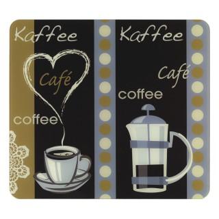 2 Couvres-plaques multi-usage Arome du café - 56 x 50 cm - Multicolore