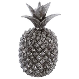 Ananas de décoration en résine - 38 cm - Argent