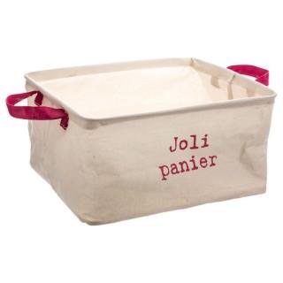 Panier rectangulaire Jolie panier - Rose
