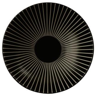 Assiette creuse Sun - Diam. 19 cm - Noir