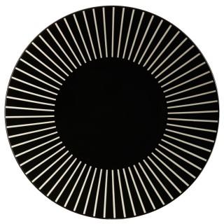 Assiette plate Sun - Diam. 27 cm - Noir