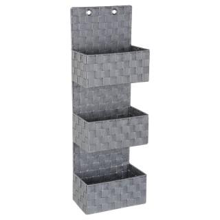 Etagère panier 3 niveaux à accrocher - H. 75 cm - Gris clair