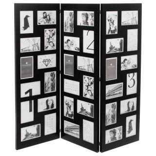Paravent pêle-mêle 36 photos - L. 96 cm - Noir