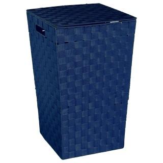 Panier à linge - H. 53 cm - Bleu marine