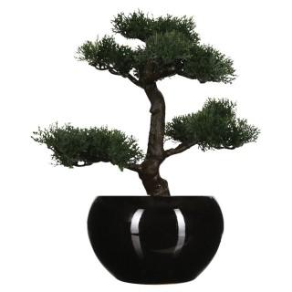 Bonsaï artificiel avec pot - H. 36 cm - Noir
