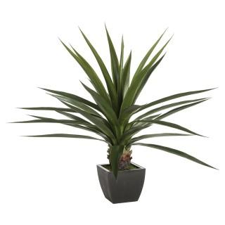 Plante verte artificielle - H. 130 cm - Gris
