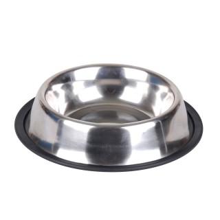 Gamelle pour chien base antidérapante - 0,75 L - Argent