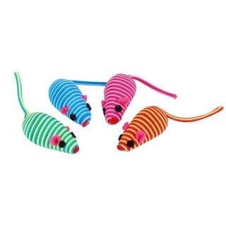 Jouet pour chat - 4 souris - Multicolore