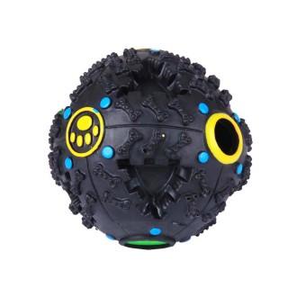 Jouet pour chien - Balle à trous - Noir