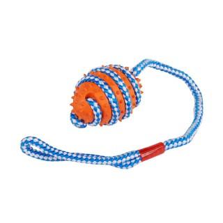 Jouet pour chien - Balle avec poignée - Orange