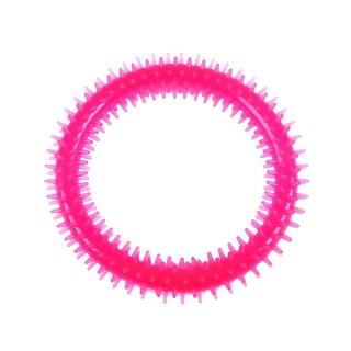 Jouet pour chien - Anneau dentaire Diam. 16 cm - Rose