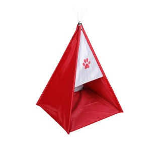 Tente tipi pour chien - Taille S - Rouge