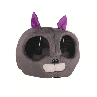Panier pour chat - Tête de chat - Gris