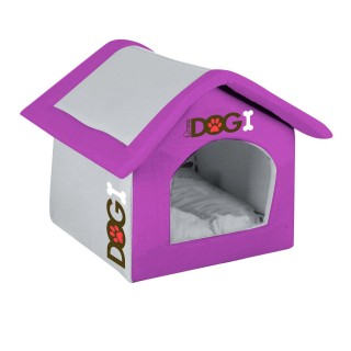 Niche d'intérieur pour chien Dogi - Taille M - Violet