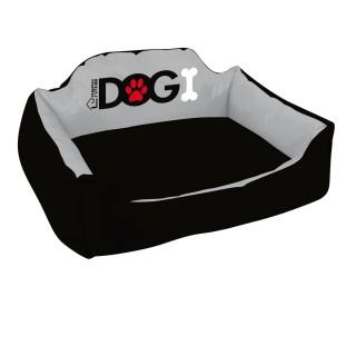 Panier pour chien rembourré Dogi - Taille XL - Noir