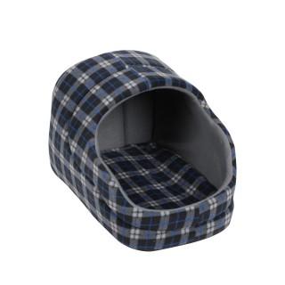Panier pour chien avec toit Ecossais - Taille S - Noir