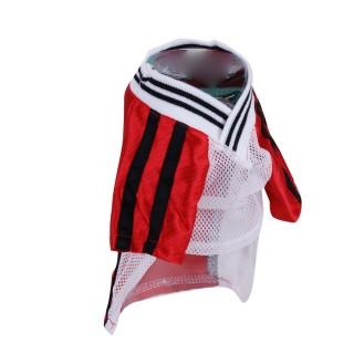 T-shirt pour chien Football - Taille L - Rouge
