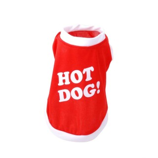 T-shirt pour chien Hot Dog - Taille M - Rouge