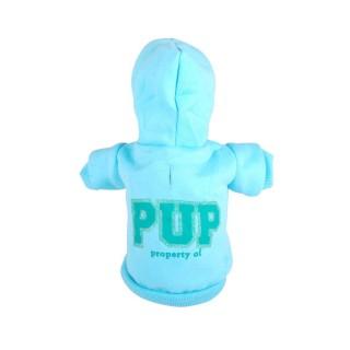 Sweat à capuche pour chien Pup - Taille M - Bleu