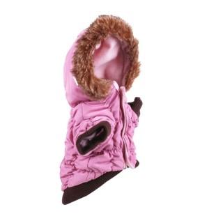 Doudoune pour chien Fourrure - Taille S - Rose