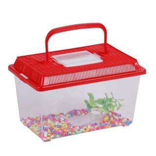 Aquarium avec pierres et algues - 27 x 17 x 15,5 cm - Rouge