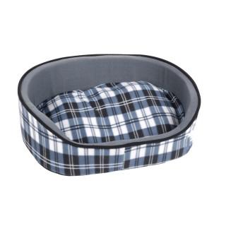 Panier pour chien Ecossais - Taille L - Bleu