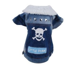 Manteau pour chien Little Punk - Taille M - Bleu