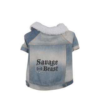Manteau pour chien Savage Beast - Taille M - Bleu