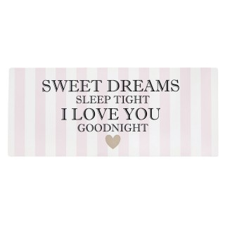 Plaque métallique de décoration - Sweet Dreams - Rose