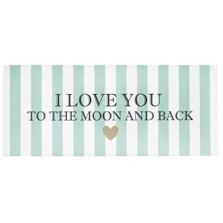 Plaque métallique de décoration - I Love You - Vert