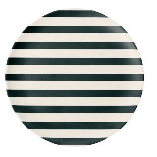 Assiette Rayure - Diam. 20 cm - Blanc et Noir
