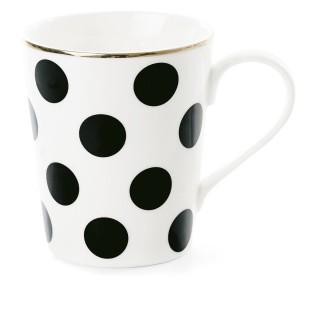 Mug avec poignée à Pois - Noir et Blanc